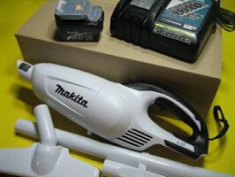 マキタ充電式ハンドクリーナカプセル式CL140FDZW14.4V本体のみ・充電器+バッテリー付