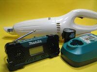 マキタ10.8V充電式クリーナカプセル式CL100DW+充電式ラジオMR051オリジナルセット
