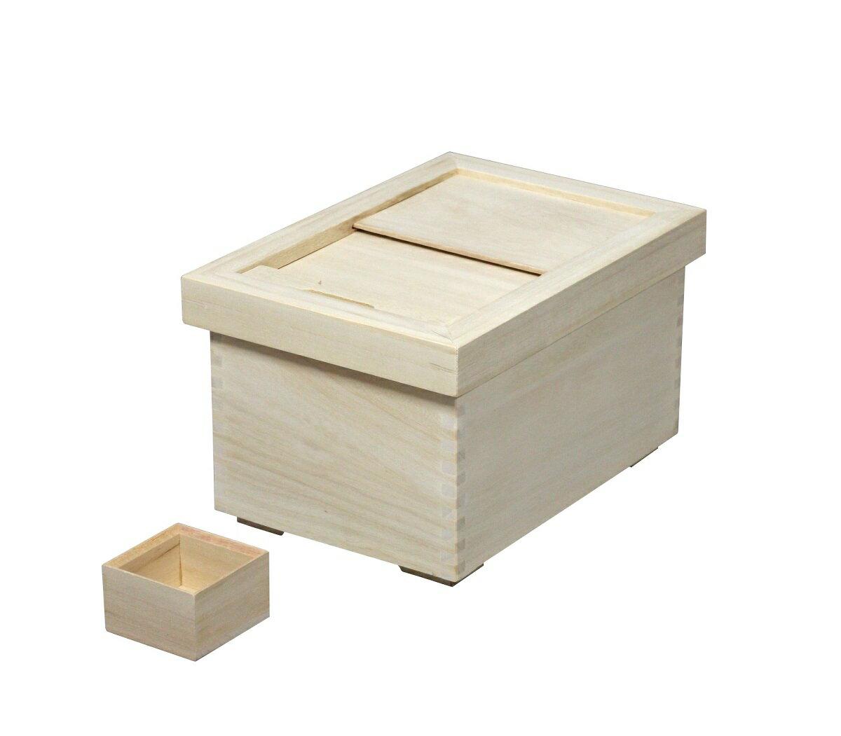 米びつ 桐 ライスストッカー 米櫃 桐製 米びつ 5kg用 DX-5 桐製一合マス付 取外し式フタ シンプル おしゃれ