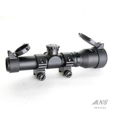 ANS Optical 2.5倍固定 2.5x20 ショートスコープ アイリリーフが長くて見やすい! 1インチ 20mmレール 20mmレイル ローマウントリング付き ライフルスコープ ドットサイト 電動ガン エアガン サバゲー サバイバルゲーム 装備