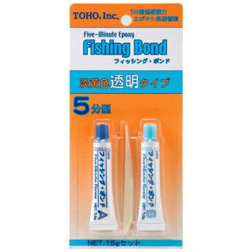 東邦産業 フィッシングボンド エポキシ系強力接着剤 淡黄色透明タイプ 5分型