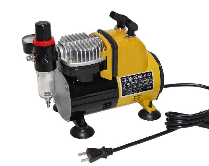 イリイ エアブラシ用エアーコンプレッサー減圧弁、水抜き付き静音タイプ