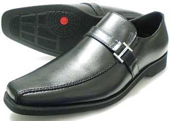 WALKERS-MATE 本革 バックルスリッポン ビジネスシューズ 黒 3E(EEE)/革靴・メンズ・紳士靴
