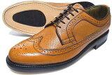 British Classic 本革底 ウィングチップ ビジネスシューズ(型押)茶色 3E(EEE)/メンズ・革靴・紳士靴