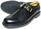 Rinescante Valentiano 本革 モンクストラップ ビジネスシューズ 黒 4E(EEEE) 27.5cm、28cm(28.0cm)、29cm(29.0cm)、30cm(30.0cm)/大きいサイズ・メンズ・革靴・紳士靴
