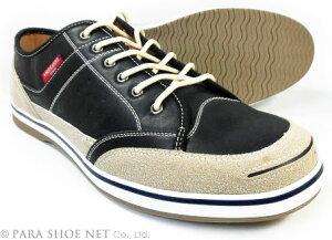 AMERICANINO(EDWIN)レザースニーカー カジュアルシューズ 黒(ブラック)ワイズ3E(EEE)27.5cm、28cm(28.0cm)、29cm(29.0cm)、30cm(30.0cm)【大きいサイズ(ビッグサイズ)メンズ紳士靴】