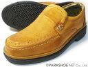 THREE COUNTRY 本革 プレーンスリップオン ビジネスシューズ キャメル ワイズ4E(EEEE) 23cm(23.0cm)、23.5cm、24cm(24.0cm)[小さいサイズ(スモールサイズ)メンズ革靴・紳士靴]