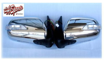 200系 ハイエース 標準、ワイド 1型〜4型 S-GL 全車 電動格納 LED ウィンカー付 フルメッキ ドアミラー