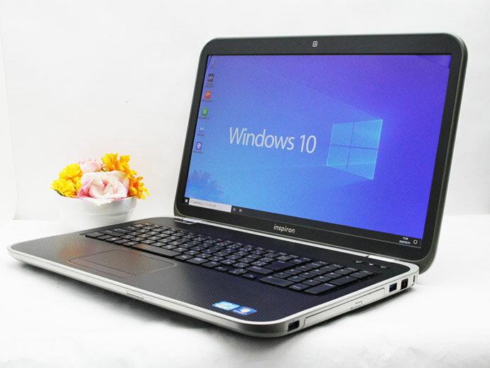 【中古】送料無料 ノートパソコン Office付き 17.3インチ Windows10 DELL Inspiron 7720 Core i5 3230M 2.6GHz メモリ 8GB 新品SSD256GB DVD-RW NVIDIA GeForce GT 650M Bランク A6
