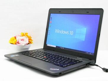 【中古】送料無料 WEBカメラ搭載 ノートパソコン Office付き Windows10 Lenovo ThinkPad E440 Core i3 4000M 2.4GHz メモリ 4GB 新品SSD 128GB Bランク B3