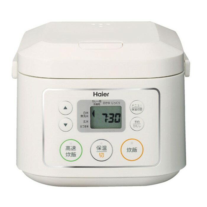 Haier ハイアール マイコンジャー炊飯器 3合炊き JJ-M30C-W ホワイト 【送料無料・即納・代引き不可】@