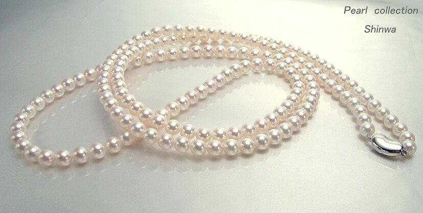 真珠ロングネックレス/7.0-7.5mm 約120cm アコヤ真珠 パールネックレス:パールコレクション SHINWA