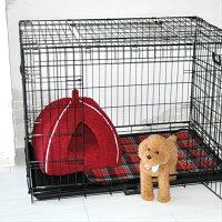 【全品ポイント3倍】ペットベッドペットハウスM送料無料40cm×40cm×H36cm犬ドッグ猫キャット用ピンクブラウンレッドプチリュバンブランド