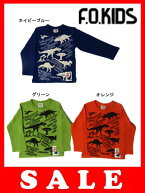 恐竜パネルプリント長袖Tシャツ
