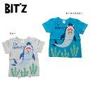 【セール50%OFF】【メール便送料無料】bit'z(ビッツ)サメプリントTシャツ【男の子】【80-120】【b207038】