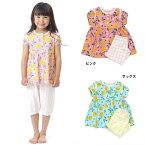 女の子レモン柄半袖パジャマ