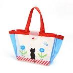ネコと鳥さんのビーチバッグ