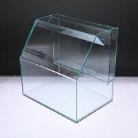 スライド募金箱Lタイプガラス色