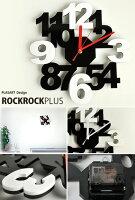 壁掛け時計/インテリア時計/ロックロックプラスブラックホワイト