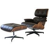 イームズラウンジチェア ビンテージダークブラウン×ウォールナット オイルワックスレザー総本皮 CharlesRayEames パーソナルチェア 1人用 1人掛け 椅子 いす イス ソファ ソファー チャールズ&レイ・イームズ