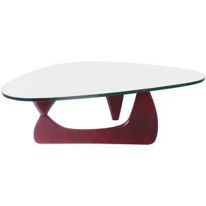 イサムノグチ/コーヒーテーブル/ガラス19mm×ワインレッド 高品質デザイナーズテーブル 新品 coffee table Isamu Noguchi ダイニングテーブル センターテーブル ローテーブル 一人用テーブ