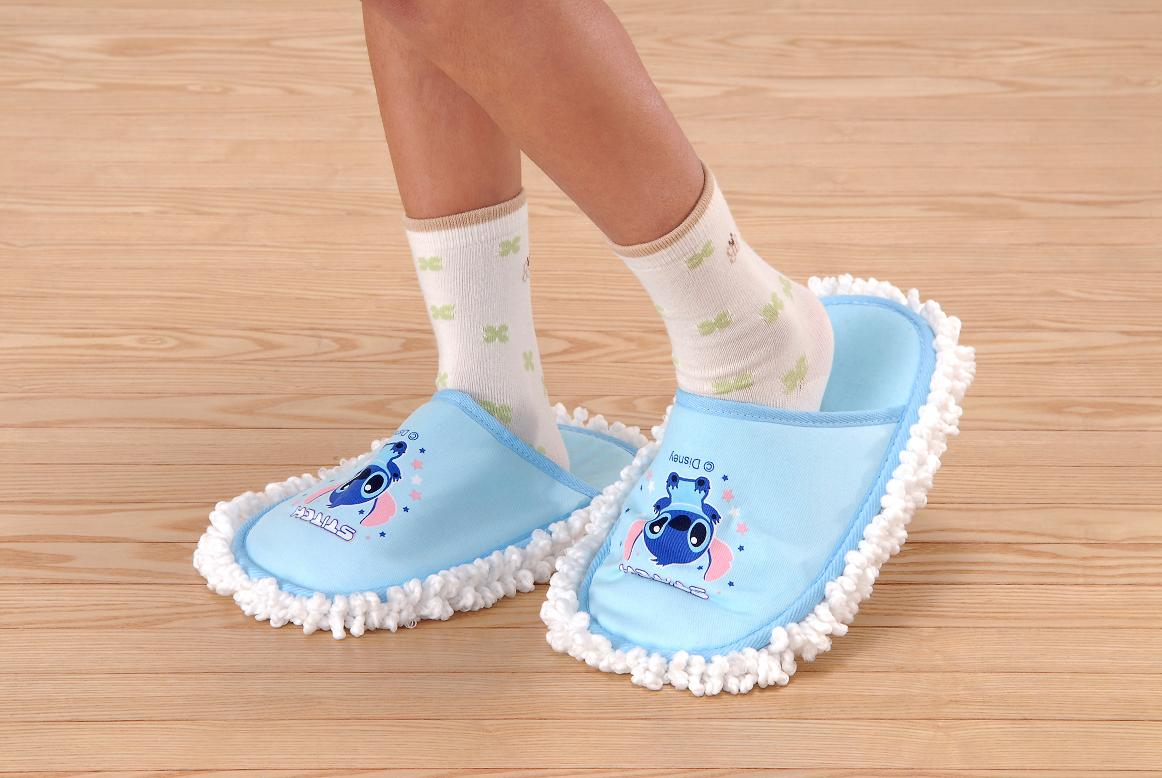 Comfortable mop slippers with microfiber- Pink | Sanitary ...