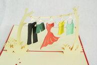 洗濯物のカード