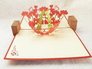 ラバーズ・コンチェルト デザイン ポップアップ バレンタイン クリスマス プレゼント グリーティング