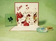 メロディー デザイン ポップアップ バレンタイン グリーティング クリスマス プレゼント