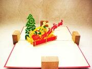 サンタクロース デザイン ポップアップ バレンタイン クリスマス プレゼント グリーティングカード