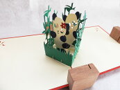 【レビューを書いて送料無料】ラブリー・パンダ(150種超のデザイン!POPUPCARD専門店・ポップアップカード屋さん)【誕生日】【パンダ】【動物ペット】【クリスマス】【プレゼント】【ギフト】【入学】【卒業】【飛び出す3D立体】【グリーティング】