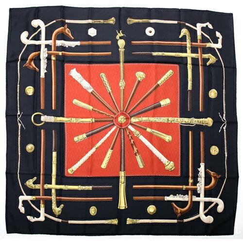 マフラー・スカーフ, レディーススカーフ  HERMES 90 CANNES POMMEAUX p202011397