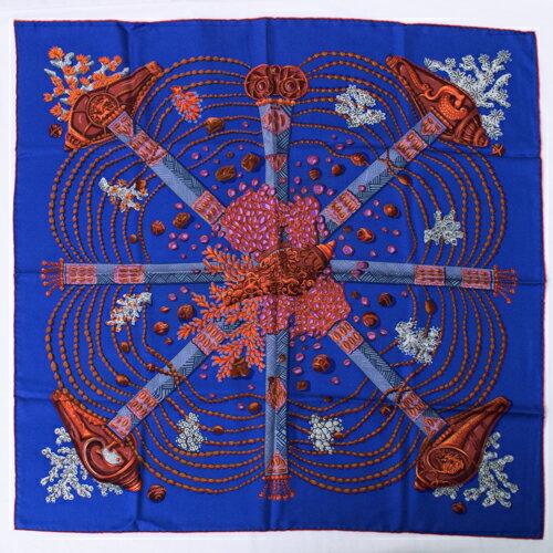 マフラー・スカーフ, レディーススカーフ  HERMES 90 Chemins de Corail r2021044