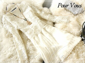 PourVous original dress prom dress store formal & party mid-length dresses review and write one piece ミディアムワンピ dresses party dress wedding & wedding 982 autumn new larger size
