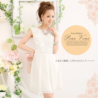 The size that a new work has a big in a dress, the second party, a wedding ceremony, LA, 1313 one piece party dress chiffon four circle pleats chiffon one piece invite adult embroidery floral design autumns
