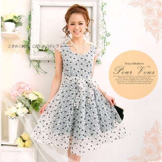 ☆ adult polka dot celebrity ◆ one piece party patronage * wedding * party * party dress * cheap ladies limited 765 autumn to ashes new larger size