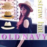 OLDNAVYストローハットハット帽子麦わら帽子大人気かわいいブランドアメリカ発おしゃれ涼しい海プール夏オールドネイビー激安特価今だけ