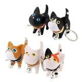猫 キーホルダー キーリング ねこ キャット かわいい 鍵 かぎ プレゼント 5カラー ストラップ お祝い【メール便 送料無料】