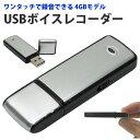 USBボイスレコーダー 4GB 小型 ワンタッチ録音のUSB 4GB型ボイスレコーダー【メール便 送 ...
