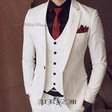 白いスーツ結婚式