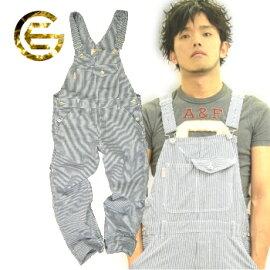 【送料無料】「GRACEENNGINEER'S」薄生地麻混ヒッコリーサロペットパンツ/GE-924/【2013EXS新作ツナギ】