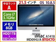�ھ����ɹ���APPLE���åץ�iMACA1418MD094J/ABT0/CT0Corei73.1GHz8GB1TBSSD128GBSD�ʳ��դ���2012ǯ�ڤ����ڡۡ�����ʡۡھ����ǹ��ۡ��������������̵����