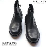 パドローネ・PADRONEサイドジップブーツラウルブラックPU-7358-1118-15A【送料無料】パドローネ