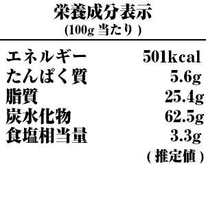 米沢牛ステーキ味棒30本入り-栄養成分表示