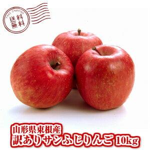 訳ありサンふじりんご10kg(軸割れ・キズ・変形・小玉等)