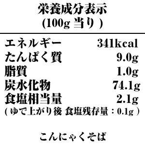 【酒井製麺所】山形秘伝の味元祖こんにゃくそば-栄養成分表示
