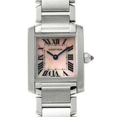 Cartier(カルティエ) タンクフランセーズ SM W51028Q3 ピンクシェル/Pink Shell 新品 レディー...