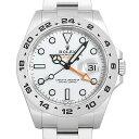 【60回払いまで無金利】ロレックス エクスプローラーII 216570 ホワイト ランダムシリアル メンズ(0ZK2ROAU0001)【中古】【腕時計】【送料無料】
