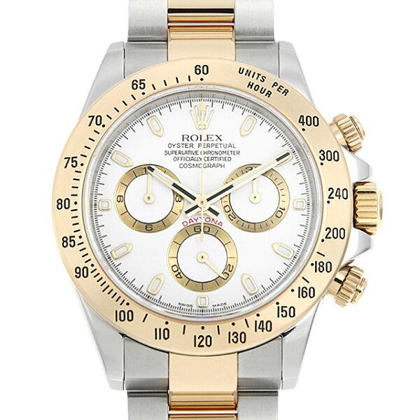 最大3万円クーポン&2倍 ロレックスコスモグラフデイトナ116523ホワイトD番メンズ(0063ROAU0663) 中古  腕