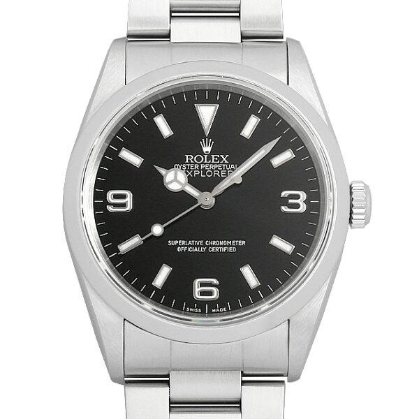 最大3万円クーポン&2倍 ロレックスエクスプローラーI14270A番メンズ(007UROAU1470) 中古  腕時計